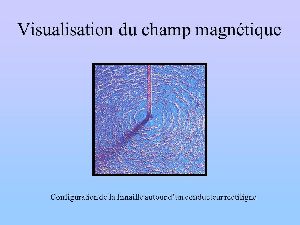 Visualisation du champ magnétique Configuration de la limaille autour dun conducteur rectiligne