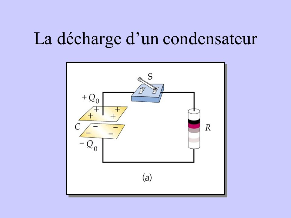 La décharge dun condensateur