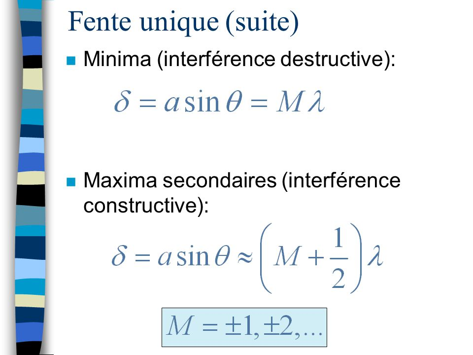 Fentes multiples n Mélange interférence-diffraction: