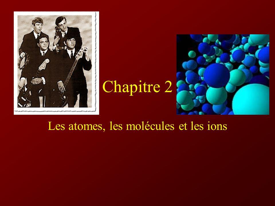 Chapitre 2 Les atomes, les molécules et les ions