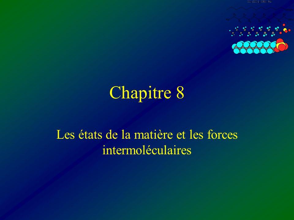 Chapitre 8 Les états de la matière et les forces intermoléculaires