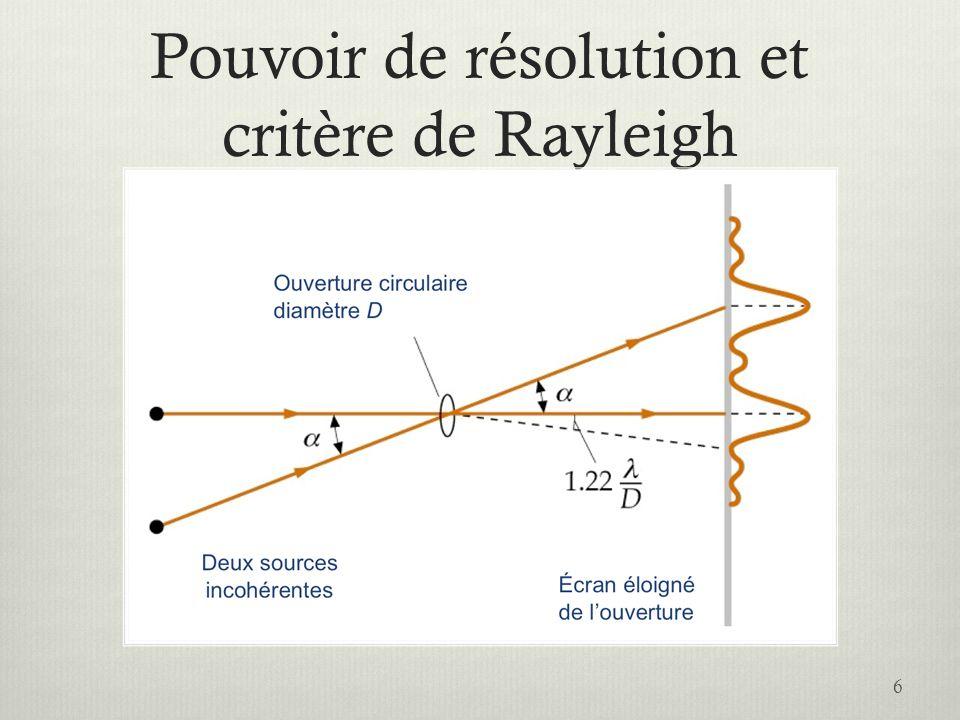 Illustration du critère de Rayleigh 7