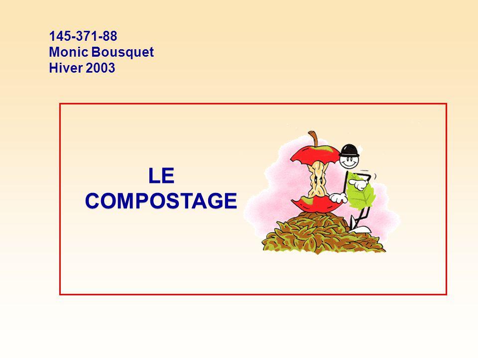 LE COMPOSTAGE 145-371-88 Monic Bousquet Hiver 2003