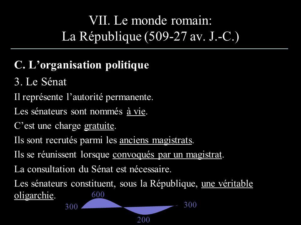 C.Lorganisation politique 3. Le Sénat Il représente lautorité permanente.