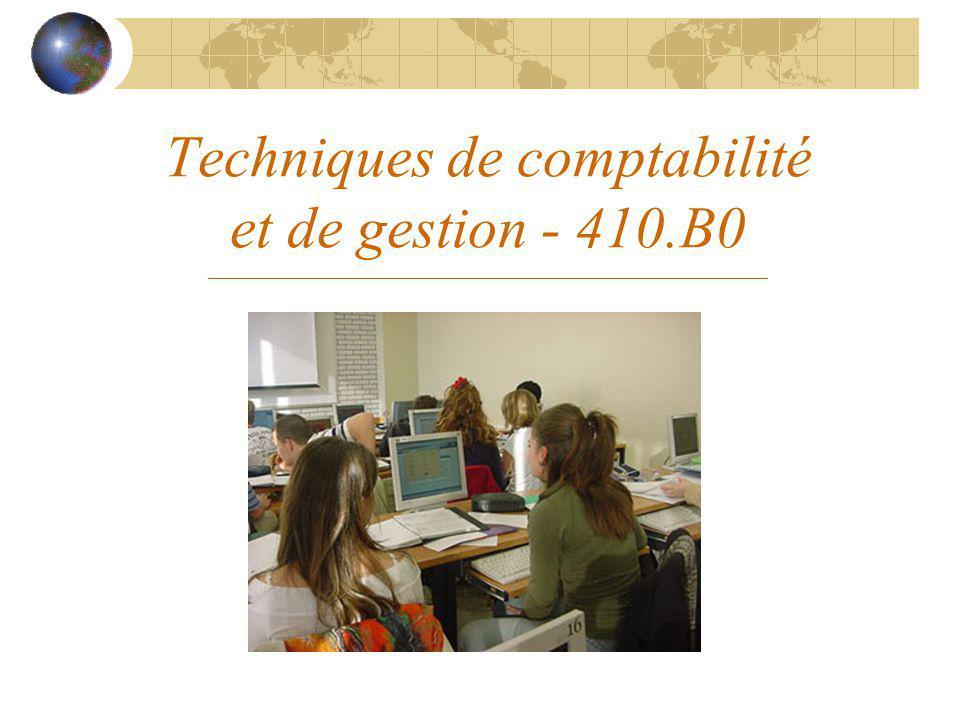 Techniques de comptabilité et de gestion - 410.B0 ______________________________________________________________________