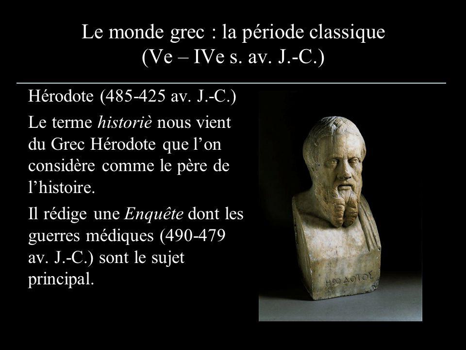 Le monde grec : la période classique (Ve – IVe s.av.
