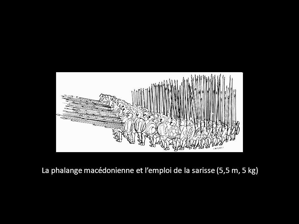 La phalange macédonienne et lemploi de la sarisse (5,5 m, 5 kg)