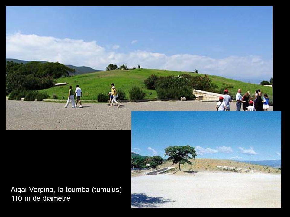 Aigai-Vergina, la toumba (tumulus) 110 m de diamètre