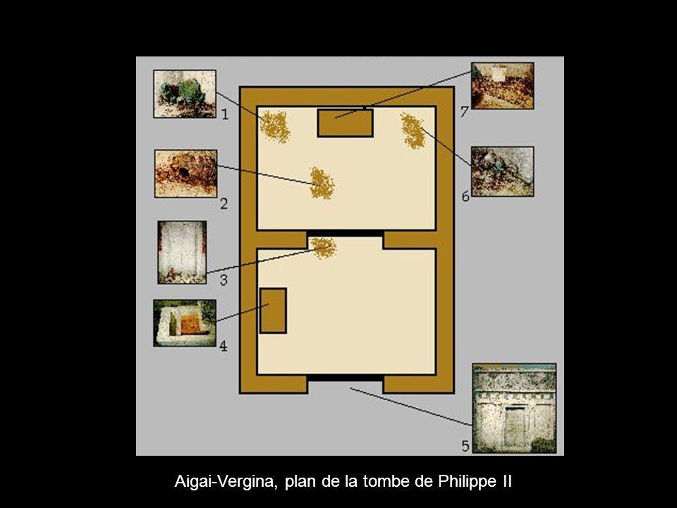 Aigai-Vergina, plan de la tombe de Philippe II
