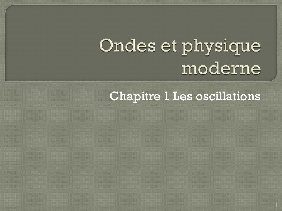 Chapitre 1 Les oscillations 1