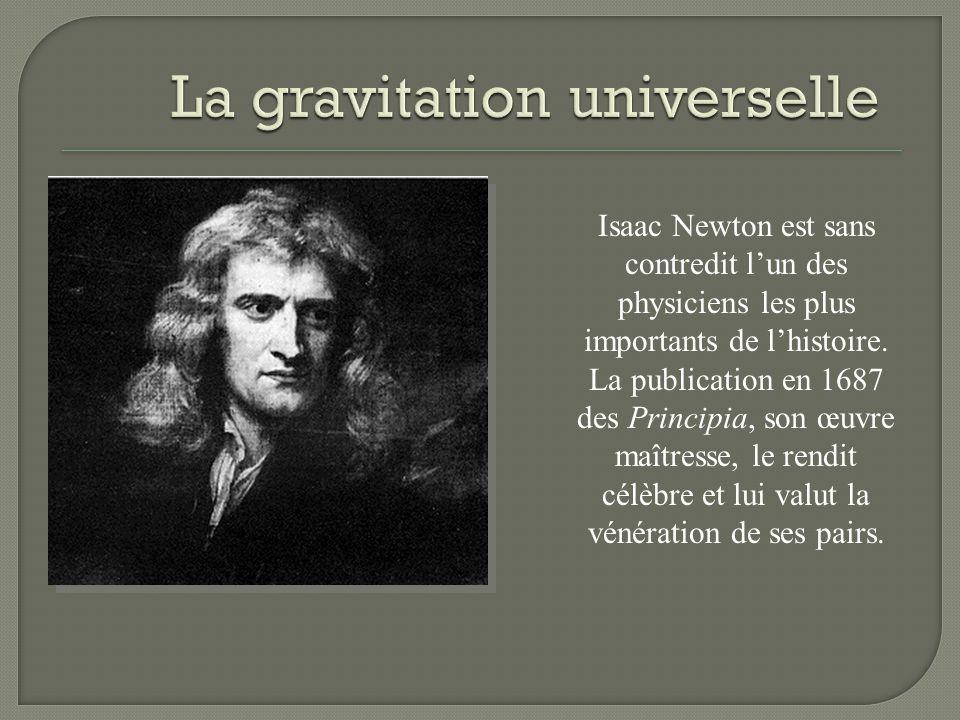 Isaac Newton est sans contredit lun des physiciens les plus importants de lhistoire. La publication en 1687 des Principia, son œuvre maîtresse, le ren