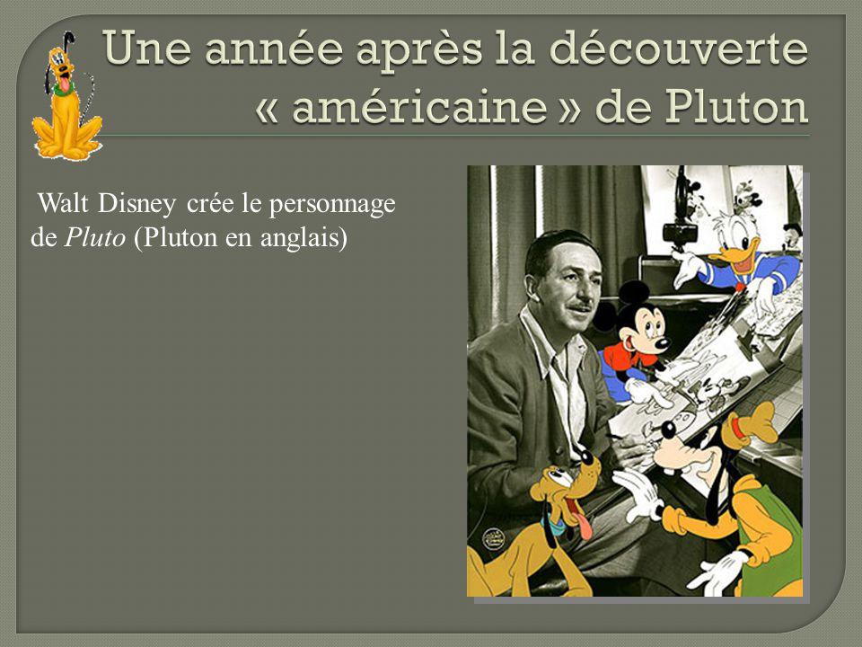 Walt Disney crée le personnage de Pluto (Pluton en anglais)