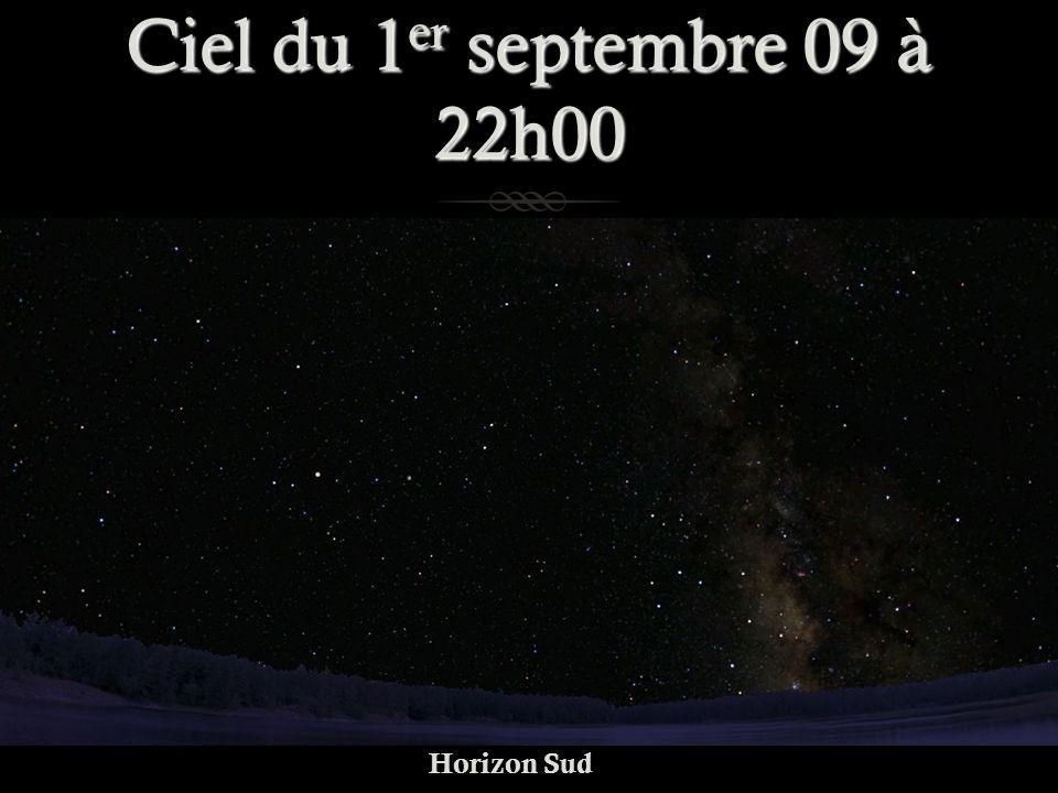 Ciel du 1 er septembre 09 à 22h00 Horizon Sud