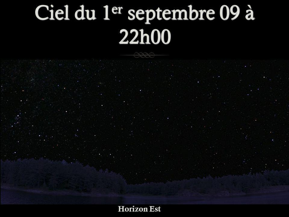 Ciel du 1 er septembre 09 à 22h00 Horizon Est