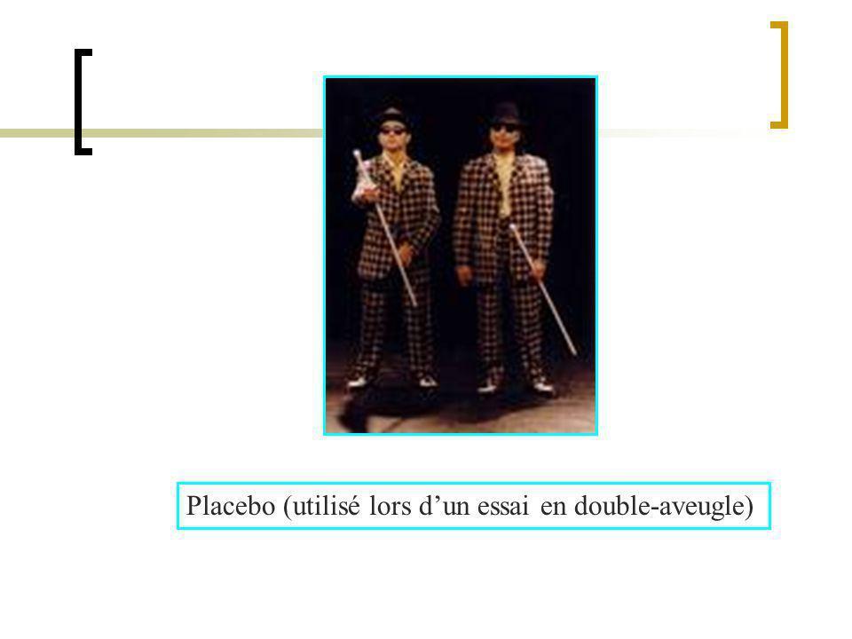 Placebo (utilisé lors dun essai en double-aveugle)