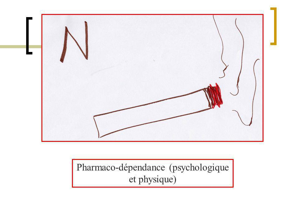Pharmaco-dépendance (psychologique et physique)