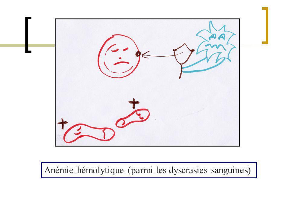 Anémie hémolytique (parmi les dyscrasies sanguines)