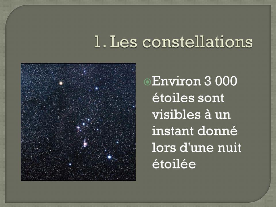 Environ 3 000 étoiles sont visibles à un instant donné lors d'une nuit étoilée