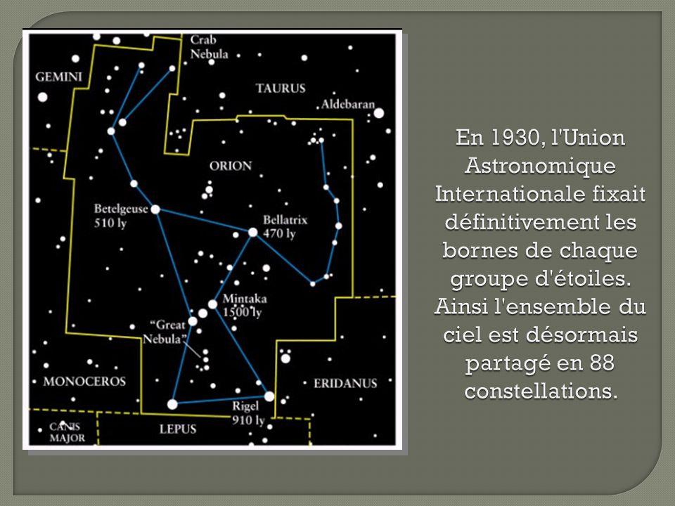 Puisque la Terre orbite autour du Soleil, différentes constellations sont visibles selon la saison.
