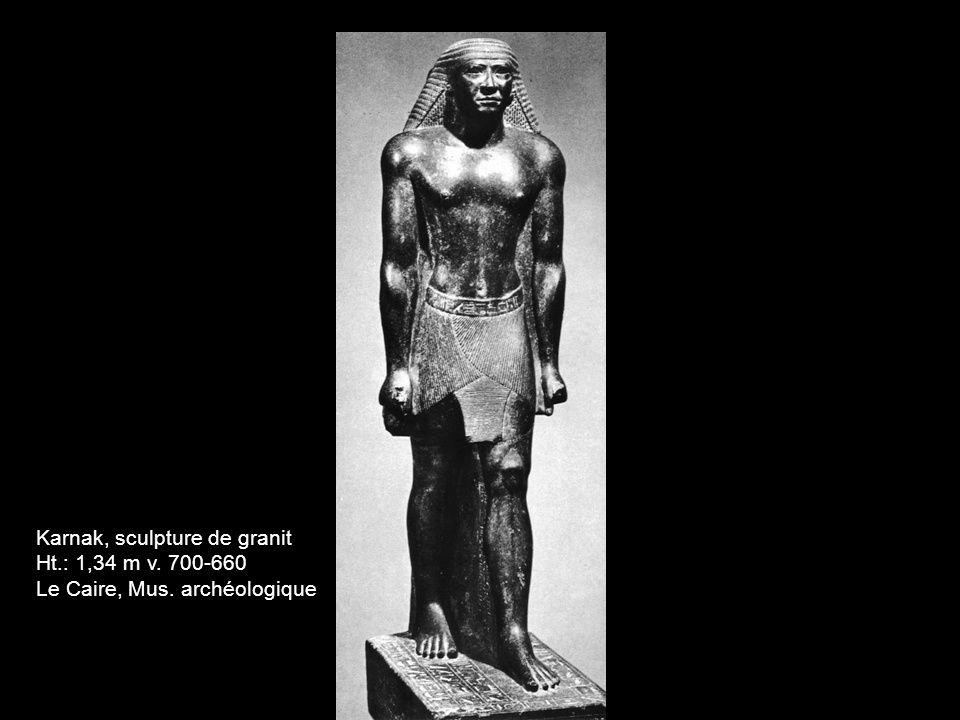 Karnak, sculpture de granit Ht.: 1,34 m v. 700-660 Le Caire, Mus. archéologique