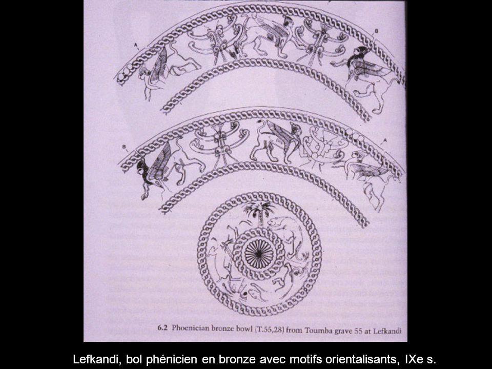 Lefkandi, bol phénicien en bronze avec motifs orientalisants, IXe s.