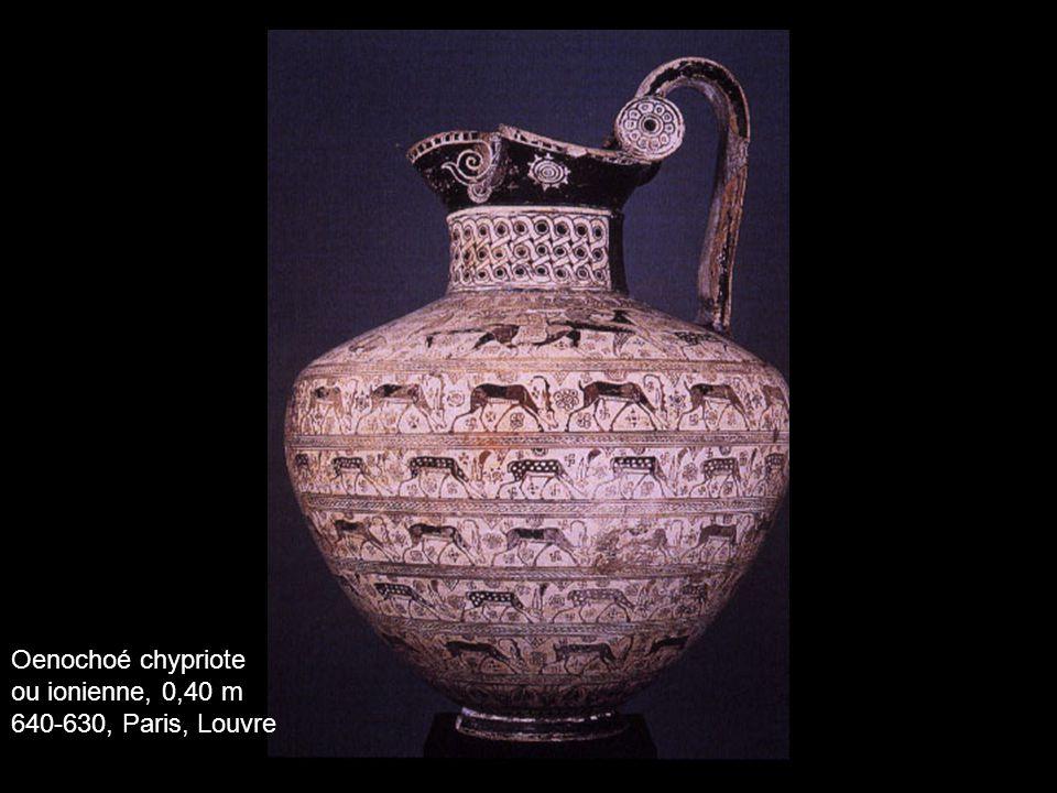 Oenochoé chypriote ou ionienne, 0,40 m 640-630, Paris, Louvre