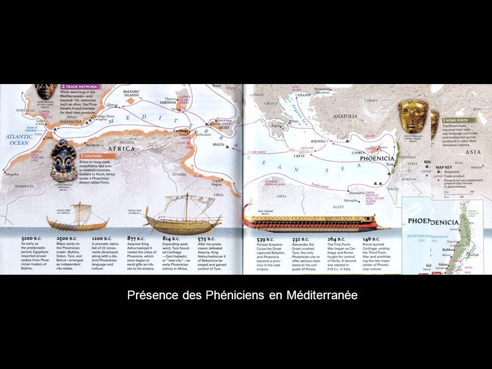Présence des Phéniciens en Méditerranée