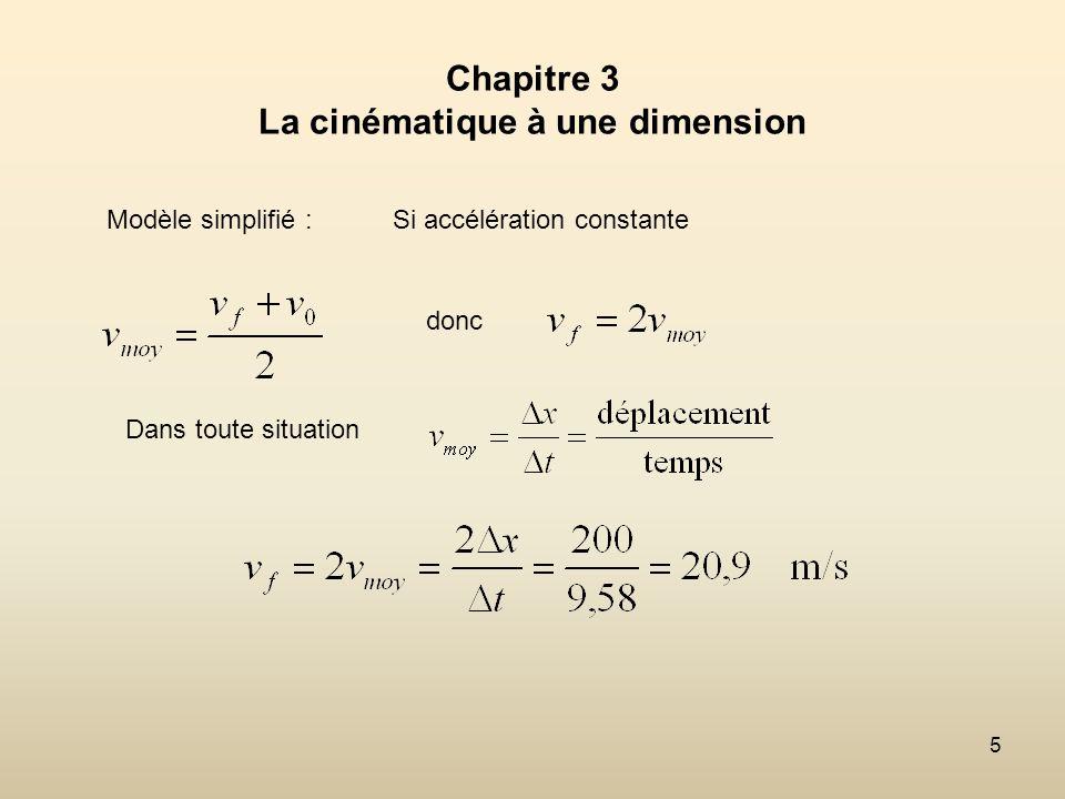 26 3.4 Laccélération ( Définition du concept) c) Accélération instantanée sur un graphique de la vitesse en fonction du temps.