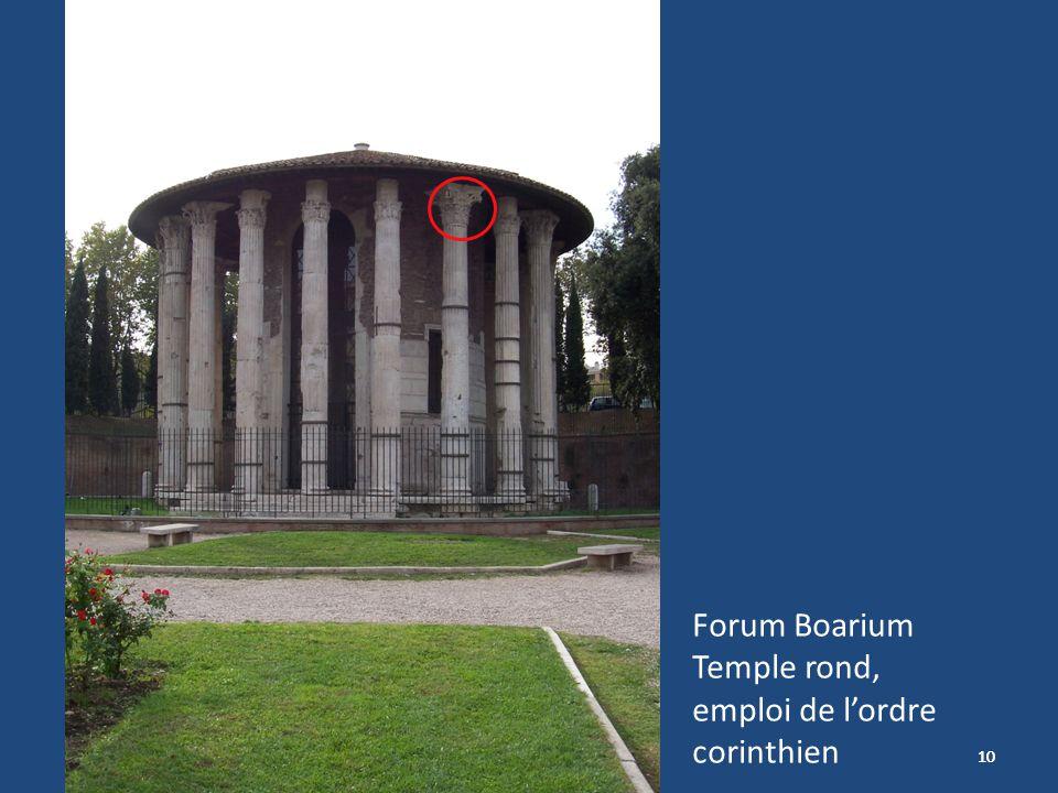 10 Forum Boarium Temple rond, emploi de lordre corinthien
