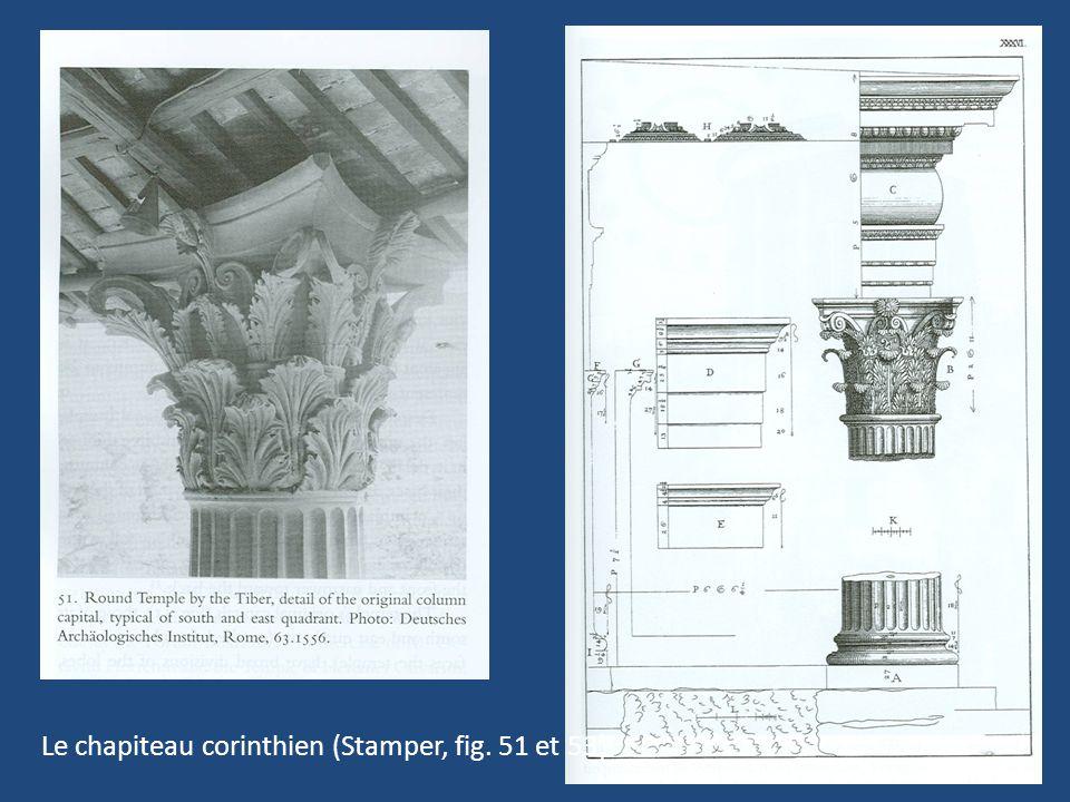 11 Le chapiteau corinthien (Stamper, fig. 51 et 53)