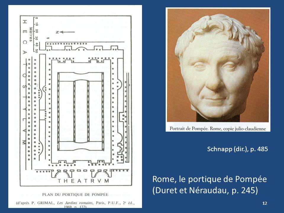 12 Rome, le portique de Pompée (Duret et Néraudau, p. 245) Schnapp (dir.), p. 485
