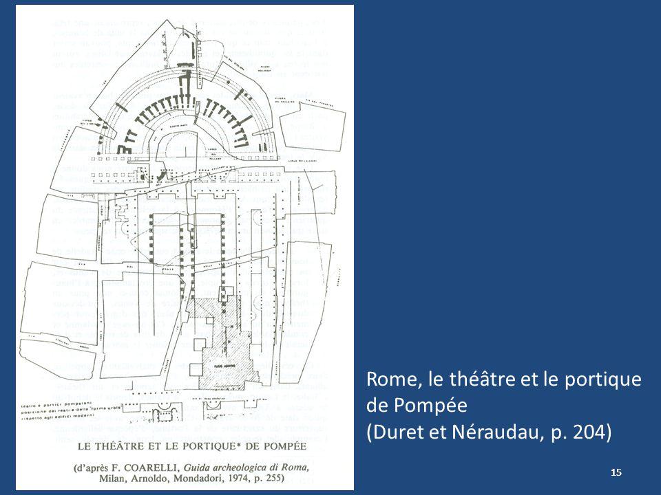 15 Rome, le théâtre et le portique de Pompée (Duret et Néraudau, p. 204)