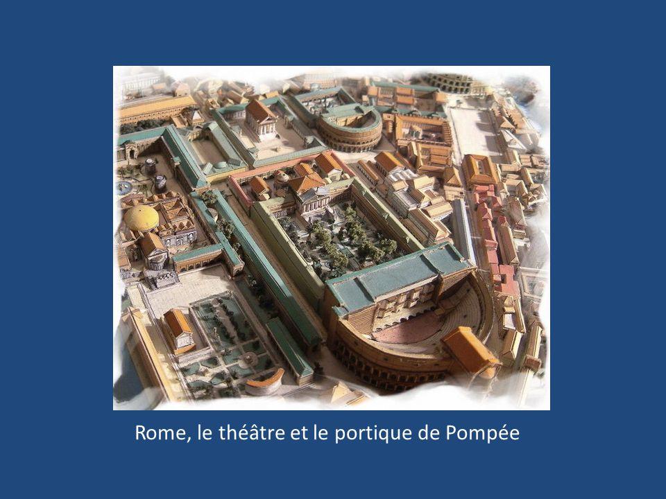 Rome, le théâtre et le portique de Pompée
