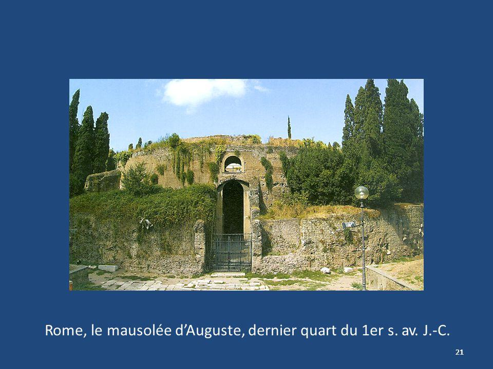 21 Rome, le mausolée dAuguste, dernier quart du 1er s. av. J.-C.