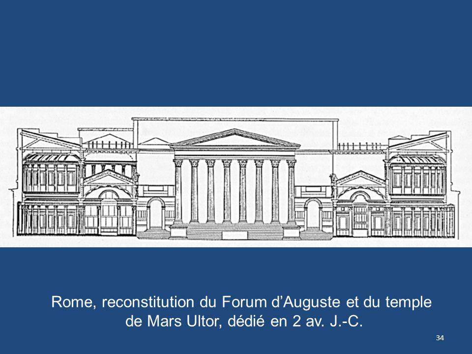 34 Rome, reconstitution du Forum dAuguste et du temple de Mars Ultor, dédié en 2 av. J.-C.
