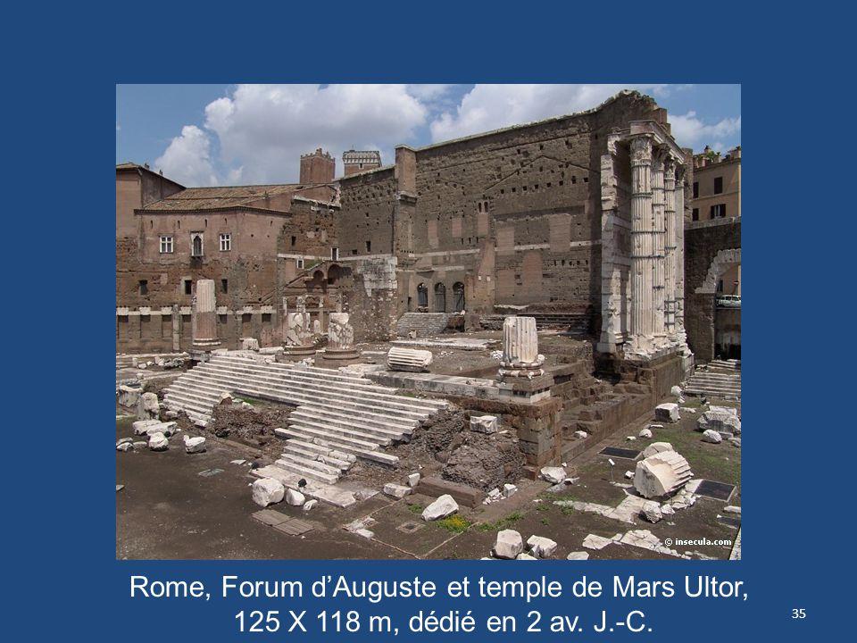 35 Rome, Forum dAuguste et temple de Mars Ultor, 125 X 118 m, dédié en 2 av. J.-C.