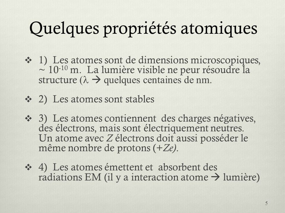 Le second postulat de Bohr 2.