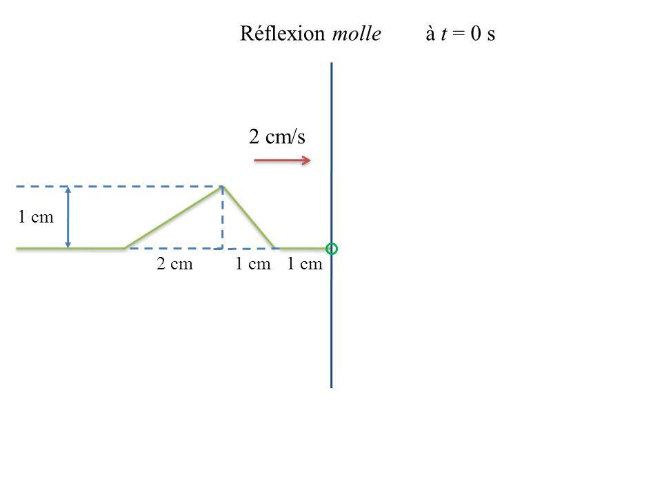 2 cm/s 1 cm 2 cm Réflexion molleà t = 0 s