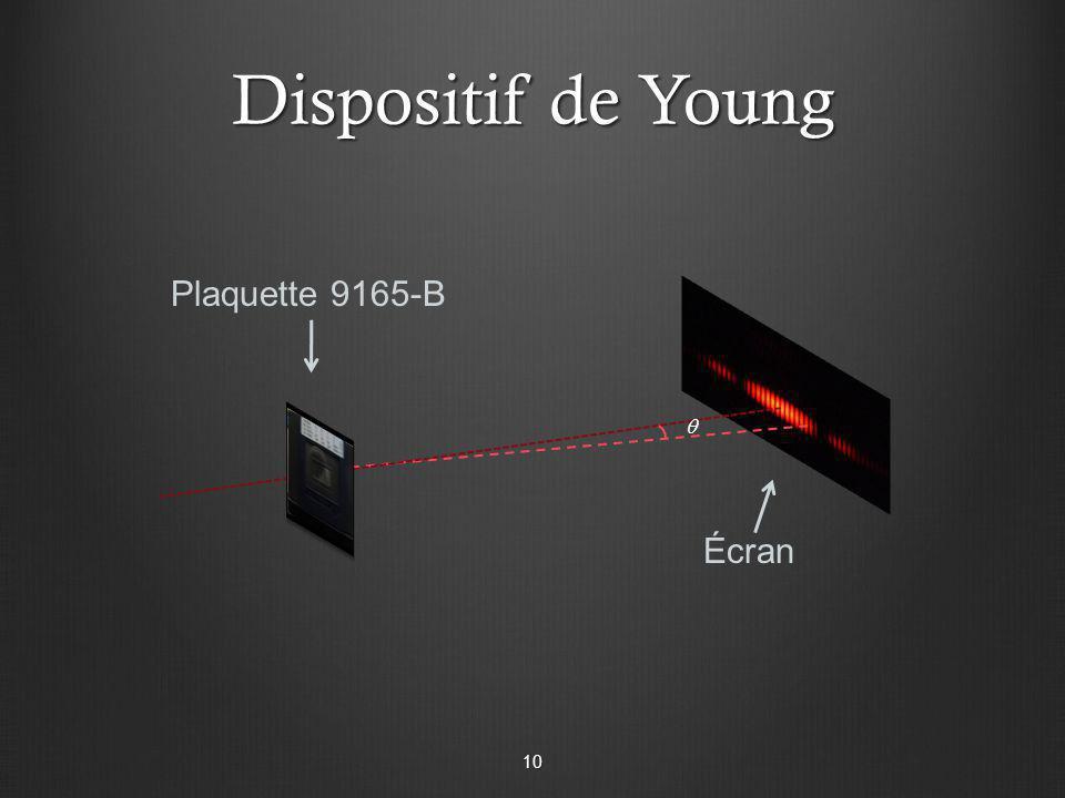 Dispositif de Young Plaquette 9165-B Écran 10