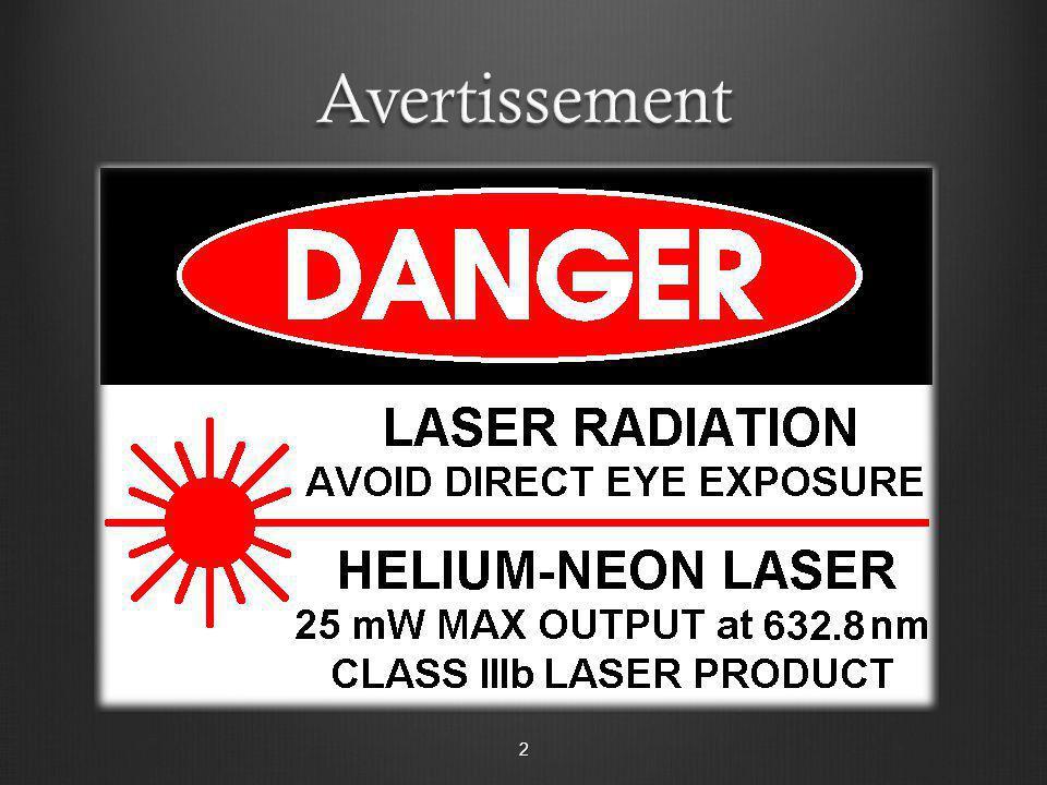 Équipement Laser He-Ne Plaquette 9165 A Plaquette 9165 B Plaquette 9165 B 3