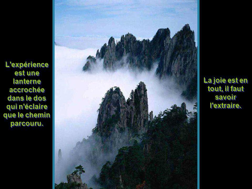 Tous les hommes pensent que le bonheur réside au sommet de la montagne alors quil se trouve dans la façon de la gravir. Le sage s'applique à être lent