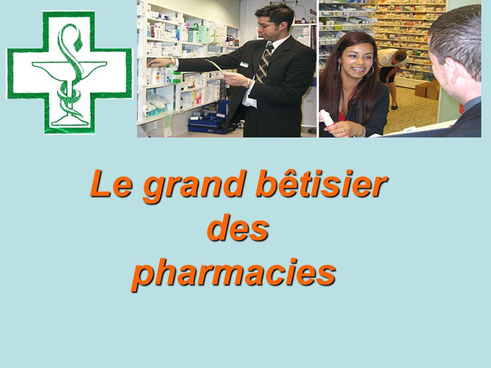 Le grand bêtisier des pharmacies pharmacies