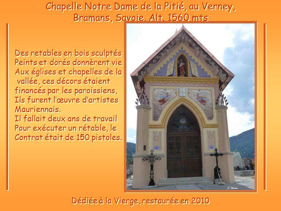 Chapelle Notre Dame de la Pitié, au Verney, Bramans, Savoie.
