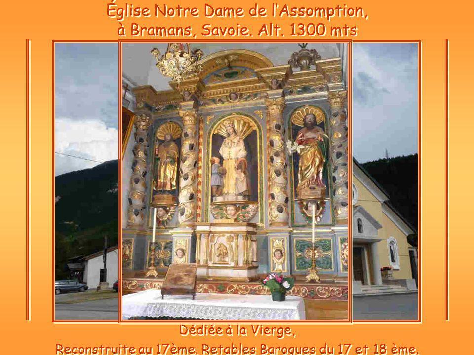 Église Notre Dame de lAssomption, à Bramans, Savoie.