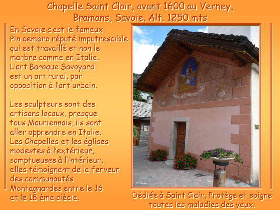 Chapelle Saint Clair, avant 1600 au Verney, Bramans, Savoie.
