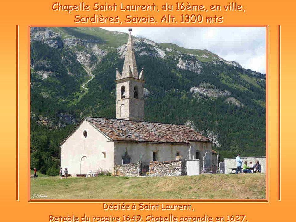Chapelle Saint Laurent, du 16ème, en ville, Sardières, Savoie.