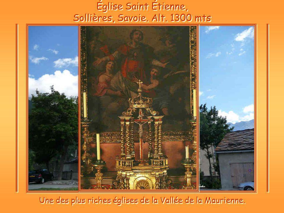 Église Saint Étienne, Sollières, Savoie.Alt.