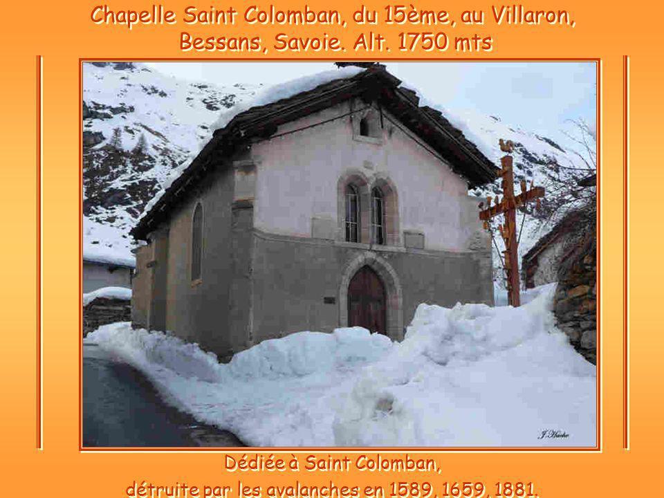Chapelle Saint Colomban, du 15ème, au Villaron, Bessans, Savoie.