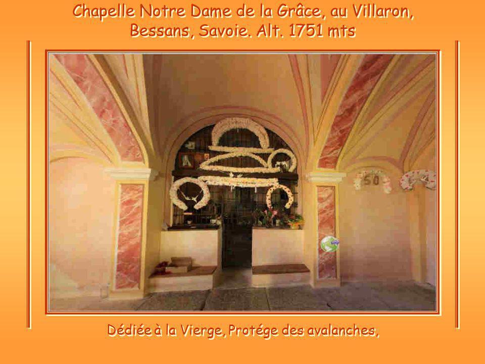 Chapelle Notre Dame de la Grâce, au Villaron, Bessans, Savoie.