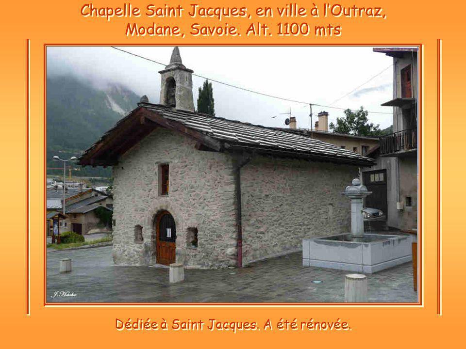 Chapelle Saint Jacques, en ville à lOutraz, Modane, Savoie.